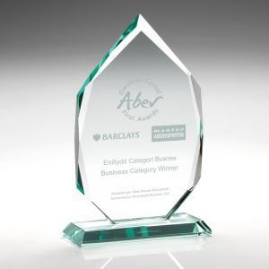 "8.5"" 7 Sided Jade Glass Award"
