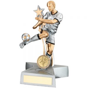 Silver Gold Resin Football Award