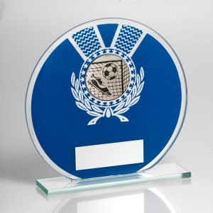 Football Glass Circular Award