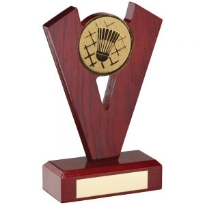 Badminton Wooden Trophy