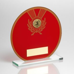 Badminton Award Glass Red