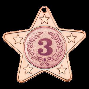 Bronze 50mm Star Shaped Medal