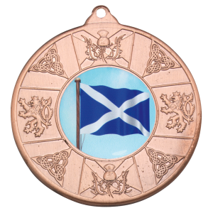 Bronze 50mm Round Medal - Scottish Themed