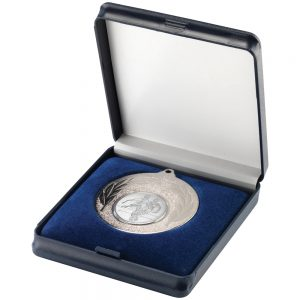 Blue Plastic 50mm Medal Box