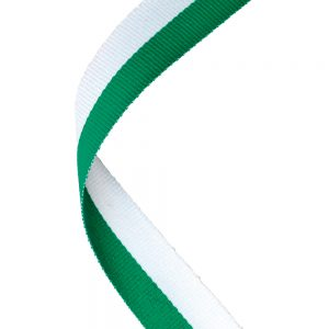 Green/white medal ribbon