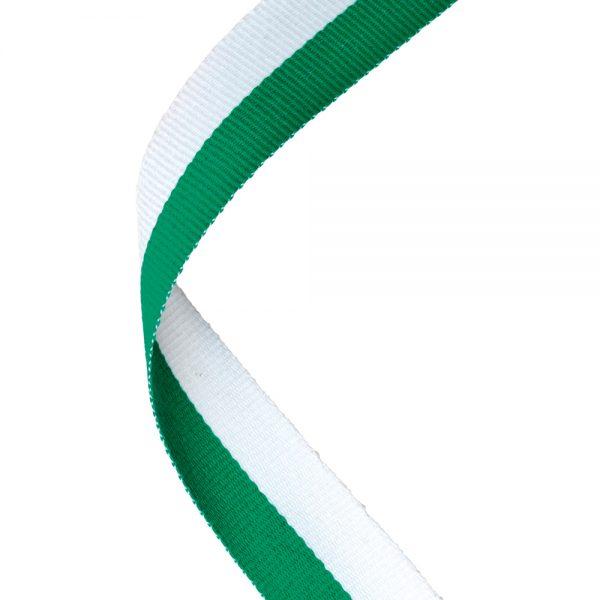 Green/white medal ribbon