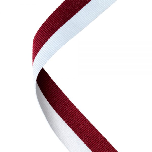 Maroon and White medal ribbon