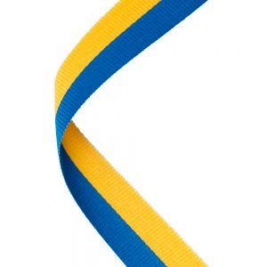 Blue/yellow medal ribbon