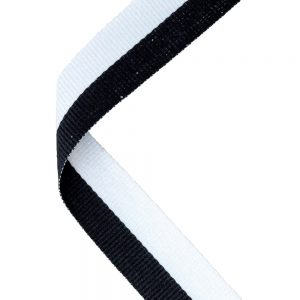 Black/white medal ribbon