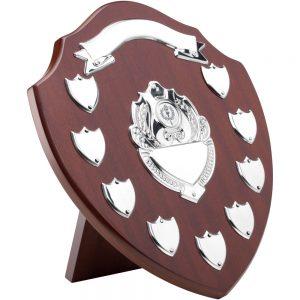 12.75 Inch Wooden Shield