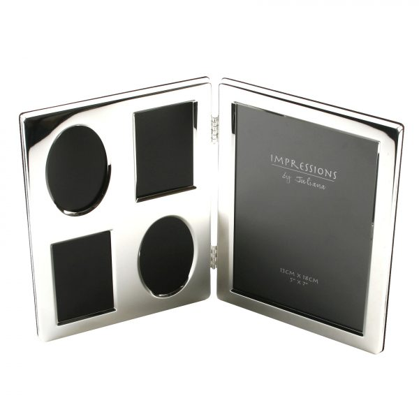 Silver Plated Hinged Collage Photo Frame