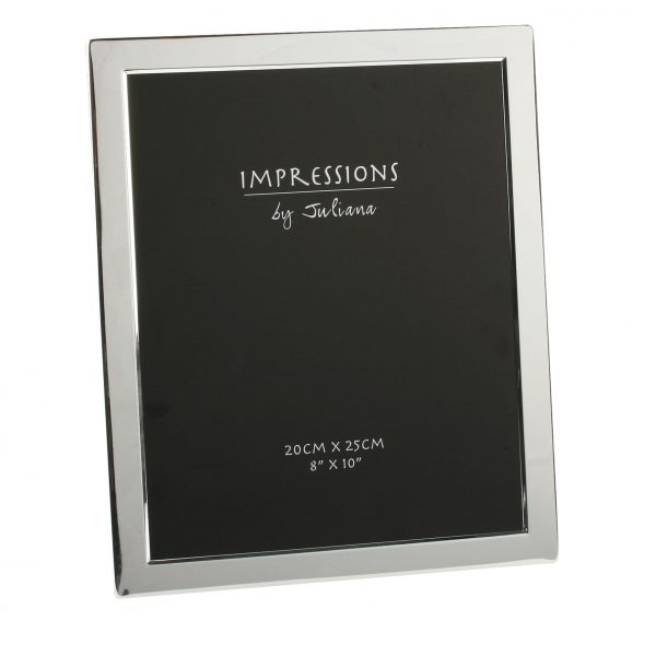 Silver Plated 8 inch x 10 inch Flat Edge Photo Frame