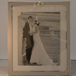 Aluminium Embellished 8 inch x 10 inch Wedding Photo Frame