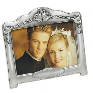6 inch x 4 inch Pewter Wedding Photo Frame