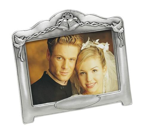 6 inch x 4 inch Pewter Wedding Photo Frame