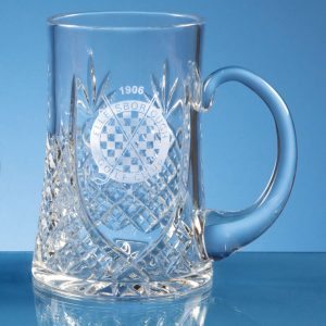 Lead Crystal Panel Tankard