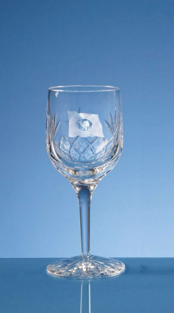 Glass Lead Crystal Blenheim Wine Glass