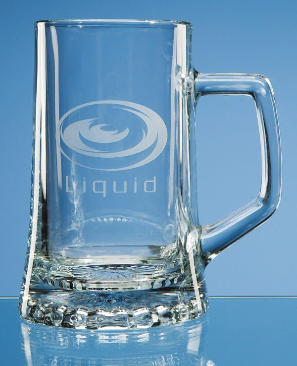 Glass .5 Litre Large Stern Tankard