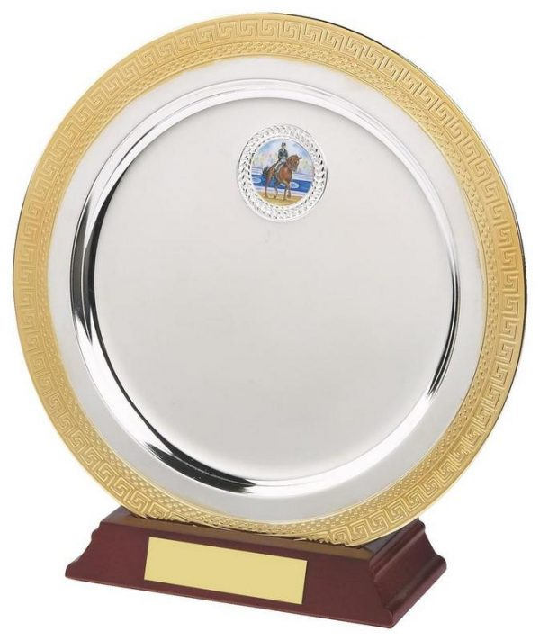 8 Inch Gold/Silver Plated Salver