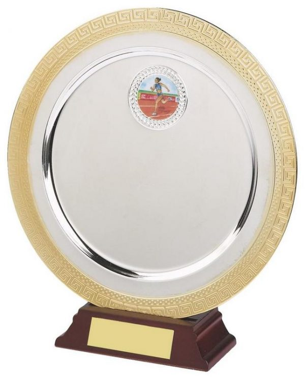 7 Inch Gold/Silver Plated Salver