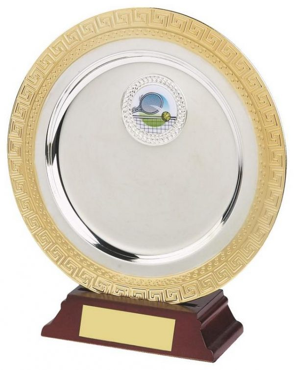 6 Inch Gold/Silver Plated Salver