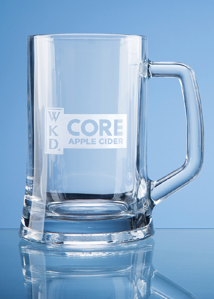 Litre Engraved Beer Glass