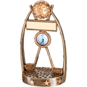 Gold Resin Golf Award