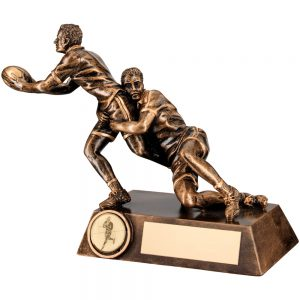 Resin Rugby Tackle Award