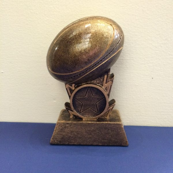 Rugby Ball resin Award