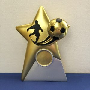 Golden Football Star Resin Award
