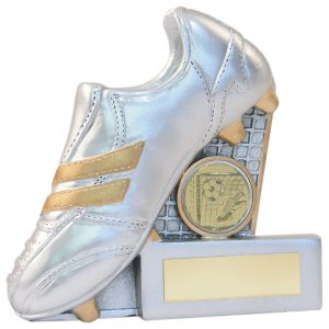 Football Boot gold and silver