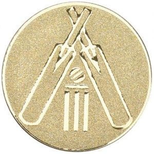 50mm Metal Gold Cricket Centre