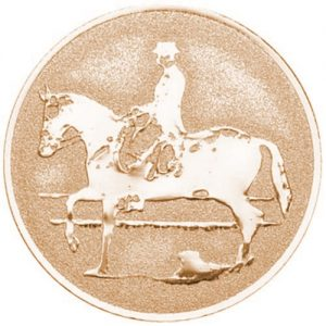 25mm Equestrian Dressage Centre (Bronze)