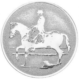 25mm Equestrian Dressage (silver)