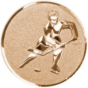 25mm Ice Hockey Centre Bronze