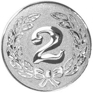 25mm 2nd Silver Metal Centre