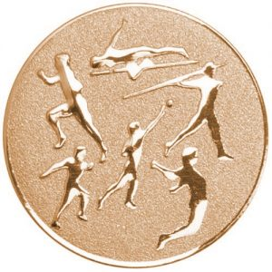 25mm Athletics Various Centre Bronze