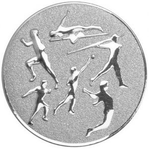 25mm Athletics Various Centre Silver