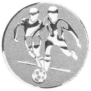 25mm Football Double Centre (silver)