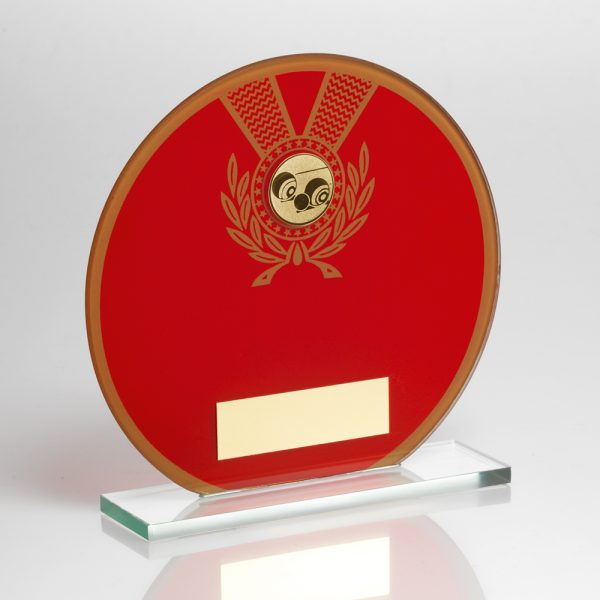 Lawn Bowls Glass Award