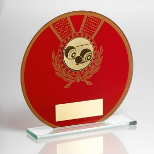 Lawn Bowls Large Glass Award