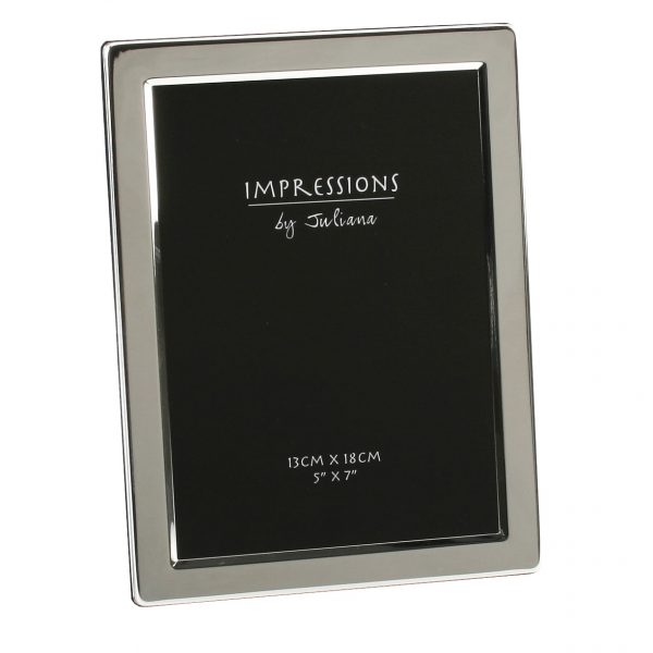 Silver Plated 5 inch x 7 inch Flat Edge Photo Frame
