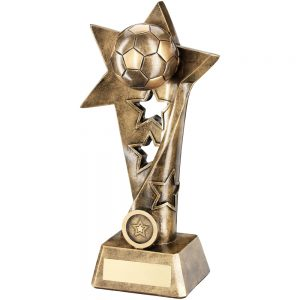Football Twisted Star Resin Award