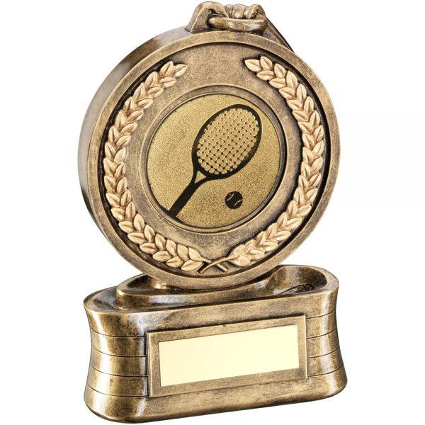 Tennis Medal Ribbon Resin Award