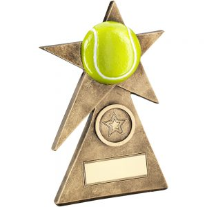 Tennis Star On Pyramid Resin Award