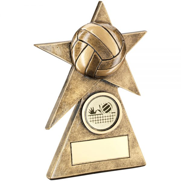 Netball Star On Pyramid Resin Award