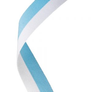 Sky Blue/White Medal Ribbon