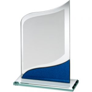 Pointed Blue Jade Glass