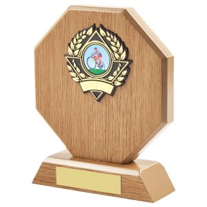 16cm Octagonal Oak Venner Award